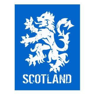 Distressed Vintage Style Scotland Rampant Lion Postcard