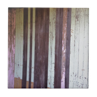 Distressed Vintage Timber Palings Small Square Tile