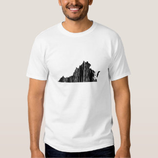 Distressed Virginia State Outline T Shirt