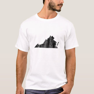 Distressed Virginia State Outline T-Shirt