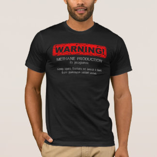 Distressed Warning! Methane production 3 (Front) T-Shirt