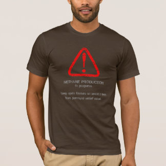 Distressed Warning! Methane production 6 (Front) T-Shirt