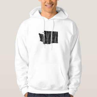 Distressed Washington State Outline Hoodie