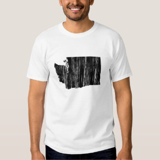 Distressed Washington State Outline Shirt