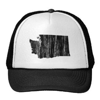 Distressed Washington State Outline Trucker Hat
