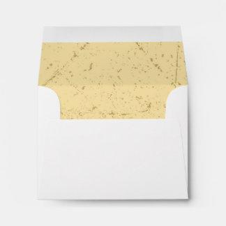 Distressed Wedding RSVP Response Card Envelope