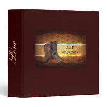 distressed western country cowboy wedding binder