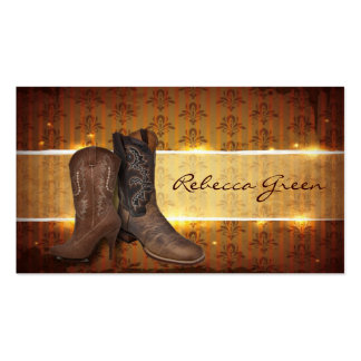 distressed western country cowboy wedding business card