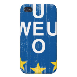 DISTRESSED WESTERN EUROPEAN UNION FLAG .png iPhone 4 Cases
