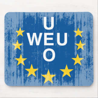 DISTRESSED WESTERN EUROPEAN UNION FLAG .png Mouse Pad