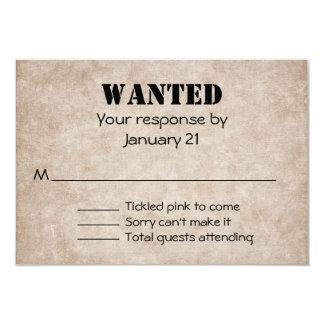 Distressed Western Wedding Response Card