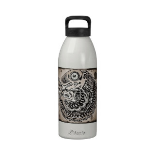 Distressed Whale Totem Reusable Water Bottles