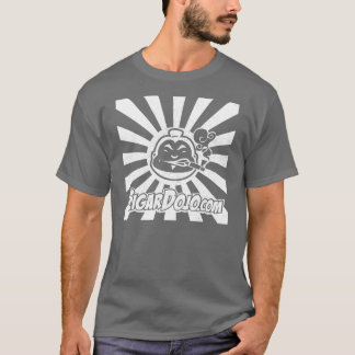 Distressed White Dojo logo on Dark T-Shirt