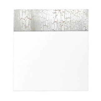 Distressed White Notepad
