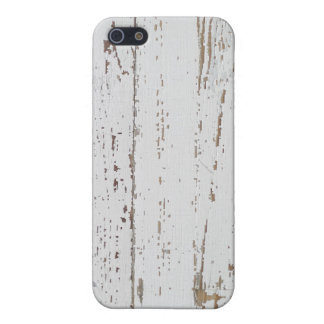 Distressed White Wood Planks Protective Case