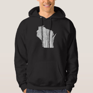 Distressed Wisconsin State Outline Hoodie