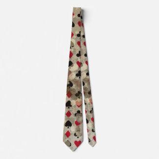 Distressed Wonderland Alice Pattern Neck Tie
