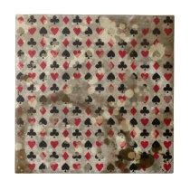 Distressed Wonderland Alice Pattern Tile