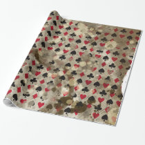 Distressed Wonderland Alice Pattern Wrapping Paper