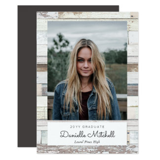 Distressed Wood Grad Photo Announcement