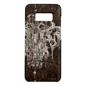 Beach Themed Distressed Wood Grain country Vintage Chandelier Case-Mate Samsung Galaxy S8 Case