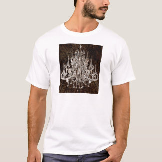 Distressed Wood Grain country Vintage Chandelier T-Shirt