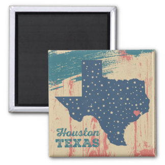 Distressed Wood Magnet - Houston Texas