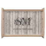 Distressed Wood Plank Board Look with Custom Text Serving Tray