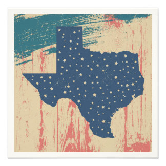 Distressed Wood Texas Card