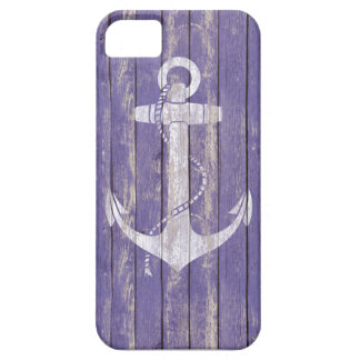 Distressed Wood with Anchor iPhone 5 Cover