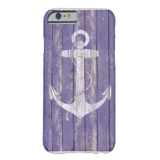 Distressed Wood with Anchor Barely There iPhone 6 Case