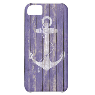 Distressed Wood with Anchor iPhone 5C Covers