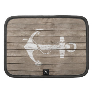Distressed Wood with Anchor Folio Planner