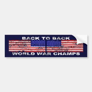 Distressed World War Champions Bumper Sticker