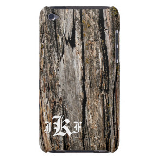 Distressed Worn Wood Monogrammed Phone Case