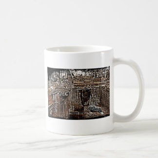 Distressed WWI Men in Trenches image Coffee Mugs