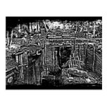 Distressed WWI Trench Image Post Cards