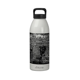 Distressed WWI Trench Image Water Bottles