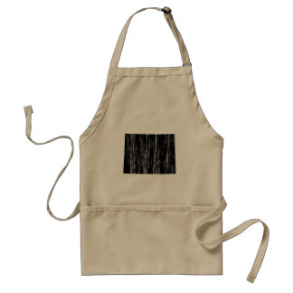 Distressed Wyoming State Outline Adult Apron