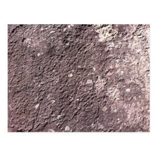 Distresses depressed granite with Lichen. Postcard