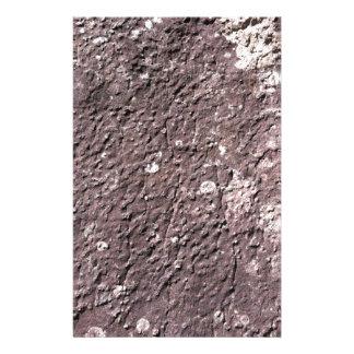Distresses presionó el granito con el liquen papelería de diseño