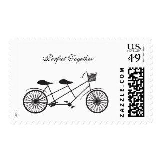 Distribución de día de la vida en la bicicleta del sellos postales