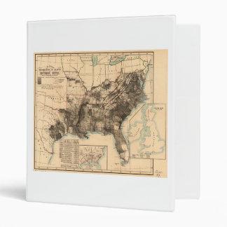 """Distribución de esclavos en el mapa 1860 de los carpeta 1"""""""
