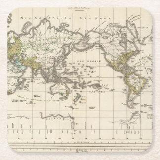 distribución de la gente germánica de Indo Posavasos Desechable Cuadrado