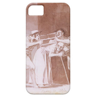 Distribución de la mujer mayor de Francisco Goya iPhone 5 Carcasas