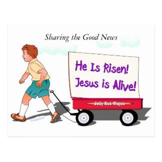 Distribución de las buenas noticias (2) tarjeta postal