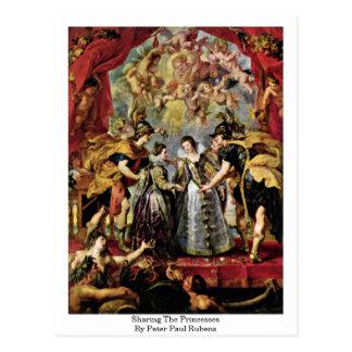 Distribución de las princesas By Peter Paul Rubens Postal