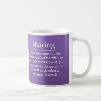 Distribución de su bendición taza