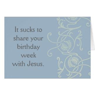 Distribución de un cumpleaños con Jesús Tarjeta Pequeña