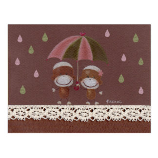 Distribución de una postal del paraguas